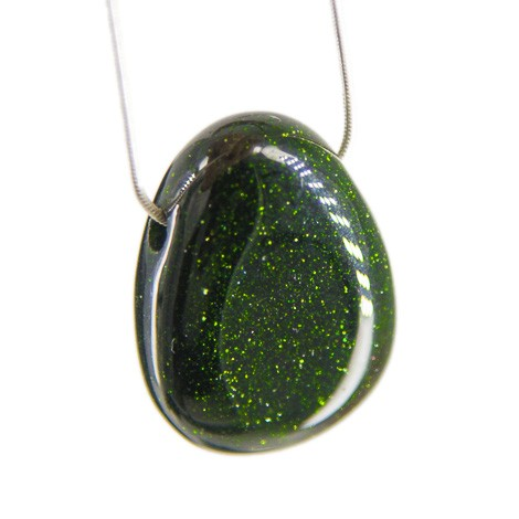GREEN SUNSTONE necklace