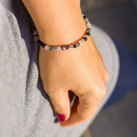 TOURMALINE CLEAR QUARTZ bracelet