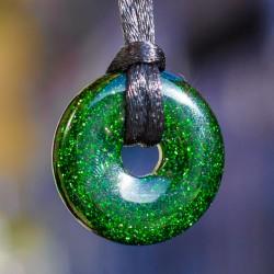 GREEN SUNSTONE donut pendant