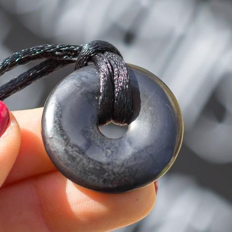 SHUNGITE donut pendant