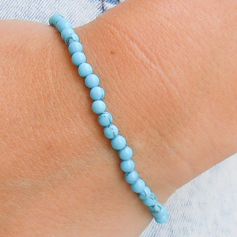 energy jewelry, BLUE HOWLITE bracelet