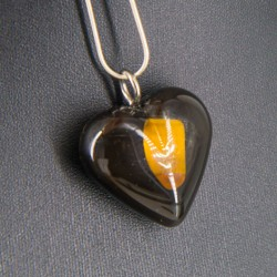 ORGONITE NECKLACE, TIGER EYE, heart shaped