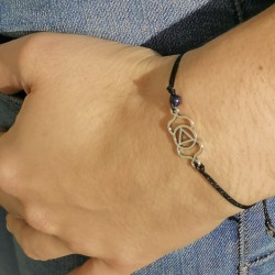 FRIENDSHIP BRACELET QUARTZ, energy jewelry lapis lazuli