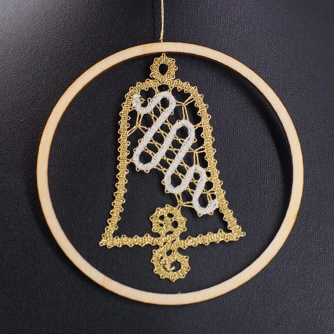 lace, new year, decoration, pattern, bell