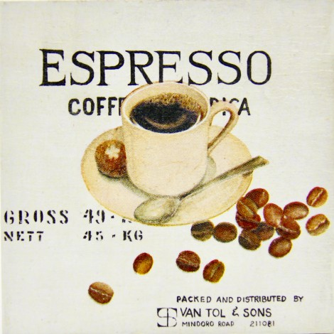 slika kava espresso decoupage