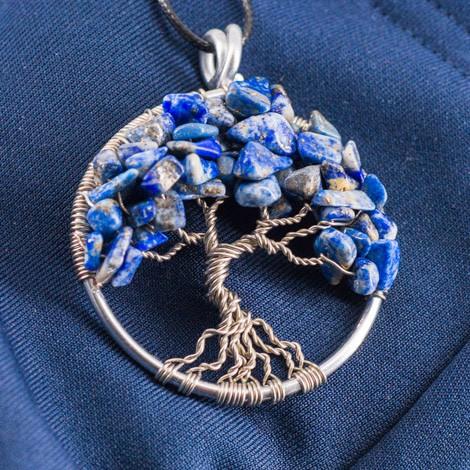 NECKLACE TREE OF LIFE Lapis lazuli
