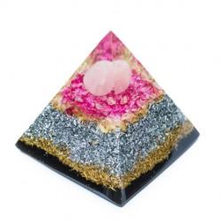 ROSE QUARTZ and SHUNGITE Orgonite Pyramid