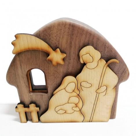 wooden crib, christmas, handmade