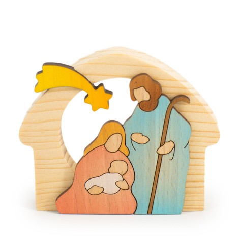 WOODEN CRIB colored