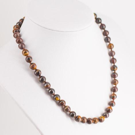 večbarvno tigrovo oko, ogrlica, energijski nakit, kristali