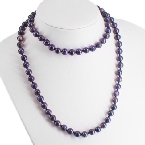 modro vijoličen sončev kamen, ogrlica, energijski nakit, kristali, ezoterika