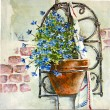 forget me not flower painting