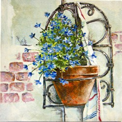 forget me not flower painting, forget me not, decoupage, painting, handmade