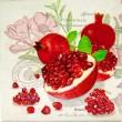 pomegranate slika decoupage kuhinjska