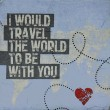 i would travel slika decoupage