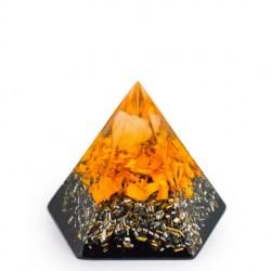 CITRINE and SHUNGITE Orgonite pyramid pentagram