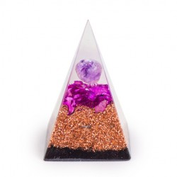 Amethyst crystal, orgonite, pyramid, energetic