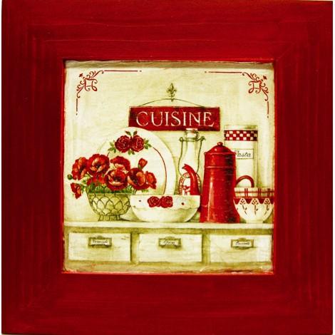 kuhinjska slika v okvirju cuisine lesen okvir decoupage