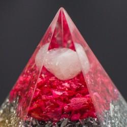 ORGONITE ROSE QUARTZ pyramid, home protection
