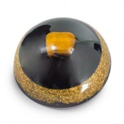 TIGER'S EYE and SHUNGITE Orgonite half sphere