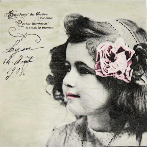 deklica vintage slika decoupage