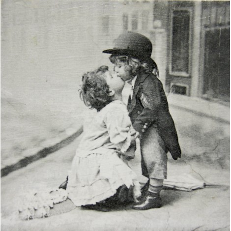 poljub vintage slika decoupage