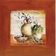 slika v okvirju tihožitje olive lesen okvir