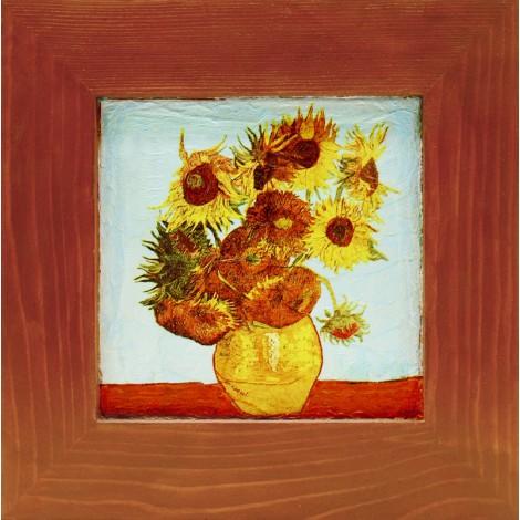 slika v okvirju sončnice van gogh decoupage reprodukcija
