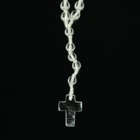 rock quartz rosary