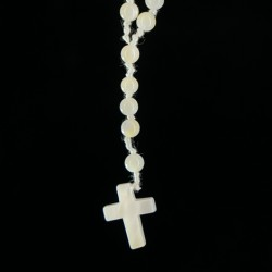 gemstone rosary mother of pearl