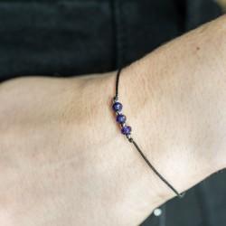 friendship bracelet amethyst, antistress, protection, intuition, positive energy