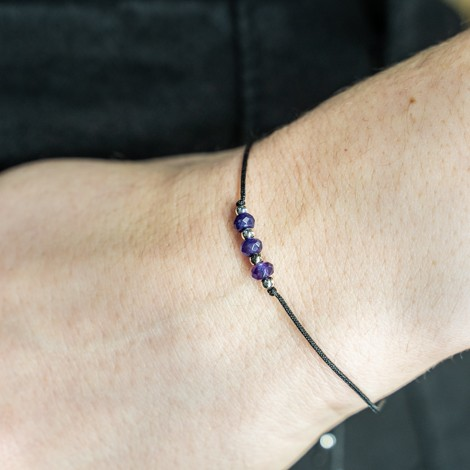 friendship bracelet amethyst, antistress, protection, intuition, positive energy