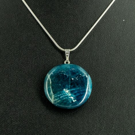 blue apatite energy necklace healing crystals