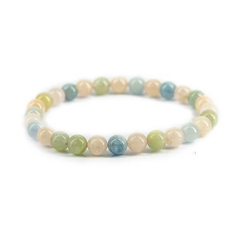 beril aquamarine morganite bracelet