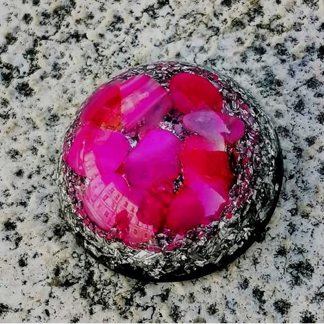 pocket orgonite pink agate