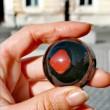 RED JASPER Orgonite half sphere