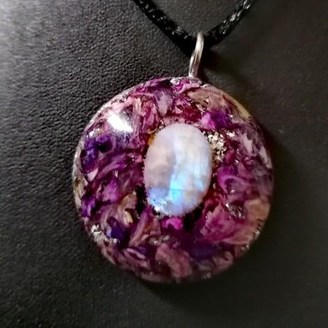 mesečev kamen orgonit ogrlica, osebna zaščita, 5g