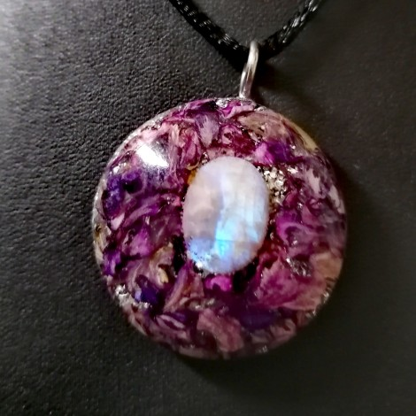moonstone orgonite necklace