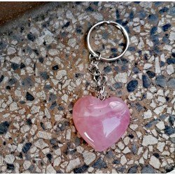 rose quarty keychain