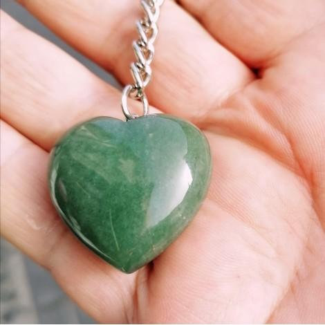 green aventurine keychain heart chakra