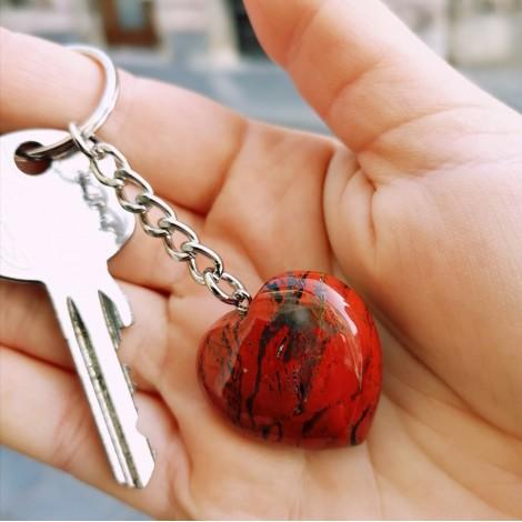 red jasper keychain