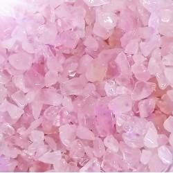 rose quartz tiny stones