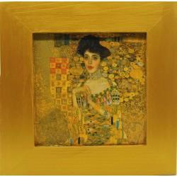 klimt adele slika v okvirju lesen okvir decoupage reprodukcija