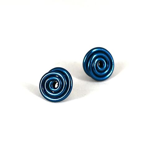 uhani iz modre žice, trgovina s kristali