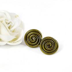 ročno izdelani nakit, mini unikatni uhani