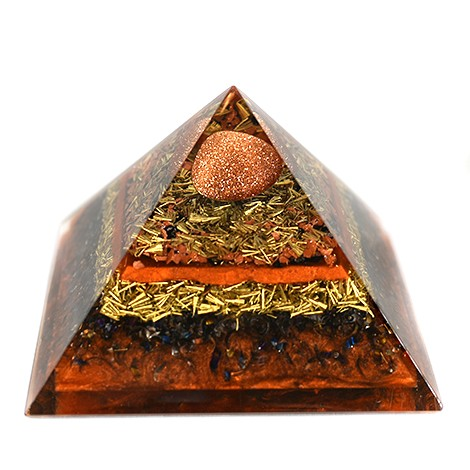 sunstone orgonite pyramide