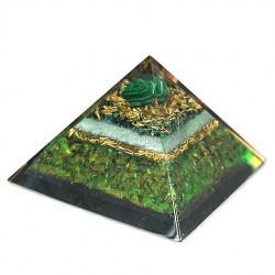 malahite crystal, black tourmaline crystal