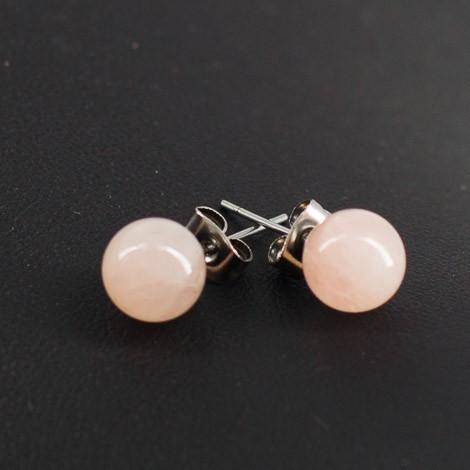 rose quartz mini earrings