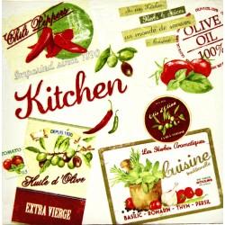 kitchen slika decoupage kuhinjska