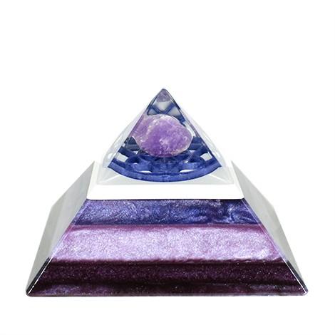 amethyst orgonite pyramid, crystal shop